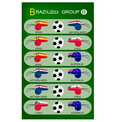 Soccer Tournament of Brazil 2014 Group B vector image