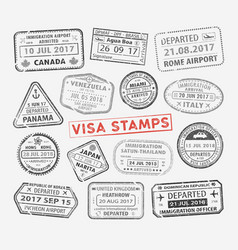Visa passport stamp vector