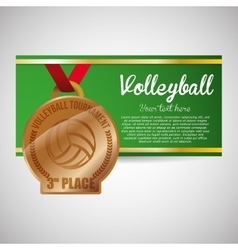 Volleyball design Sport icon Isolated vector image