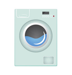 Washing machine flat style vector
