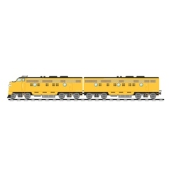 Yellow freight train isolated on white background vector