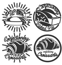 Vintage confectionery emblems vector image