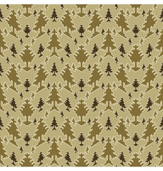 coniferous forest print vector image