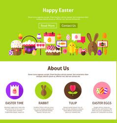 Happy easter website design vector