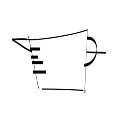 A measuring cup is placed vector image