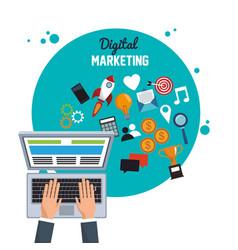 digital marketing online target objetive vector image