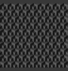 abstract geometric background with cubes in black vector image