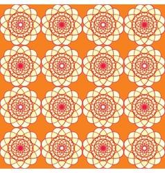 Spirographic orange seamless background vector image