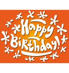 Happy Birthday - text doodles vector image