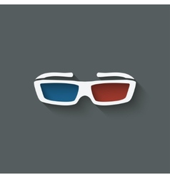 3d glasses design element vector image vector image