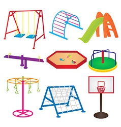 Equipment in children playground vector