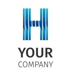 Abstract blue logo h vector