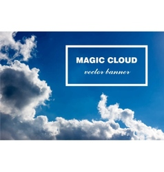 abstract cloud banner vector image vector image