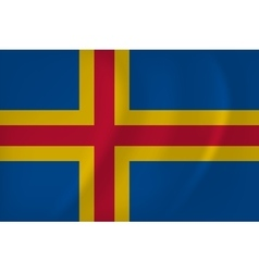 Aland islands flag vector