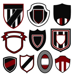badge emblem shield set vector image vector image