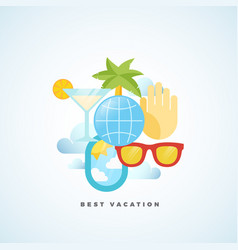 Best vacation flat style tourism vector