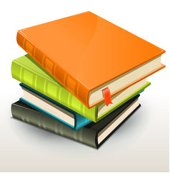Books and pics albums pile vector