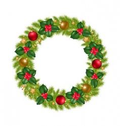 christmas wreathe vector image vector image