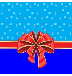 Colorful background with bow vector image vector image