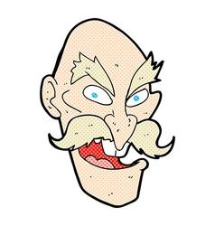 comic cartoon evil old man face vector image vector image