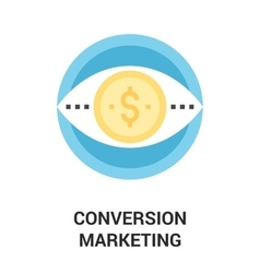 Conversion marketing icon concept vector