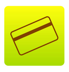Credit card symbol for download brown vector