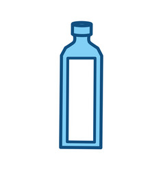 Empty plastic bottle vector