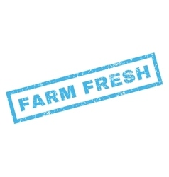 Farm fresh rubber stamp vector