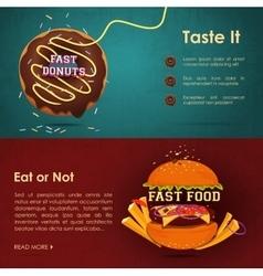 Fast food menu - vector