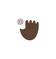 flat baseball element of flat vector image