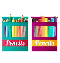 Flat pencils in box vector