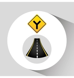 Fork road sign concept graphic vector