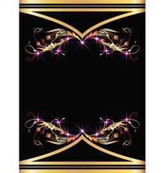 golden ornaments vector image vector image