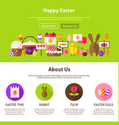 Happy easter website design vector