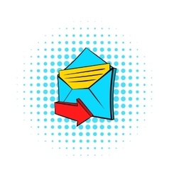 Incoming e-mail icon pop-art style vector