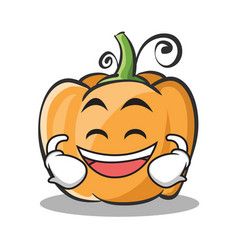 Laughing pumpkin character cartoon style vector