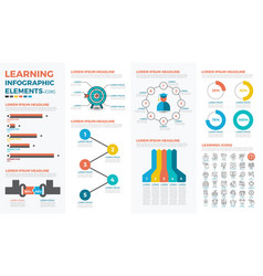 Learning concept infographic vector