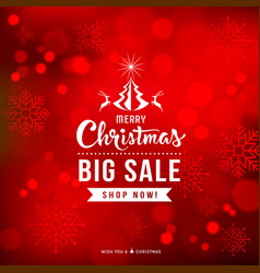 merry christmas sale concept design vector image vector image