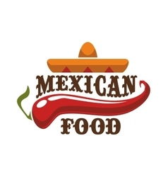 Mexican food icon or emblem vector
