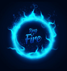 Ring of fairy blue underwater fire with vector