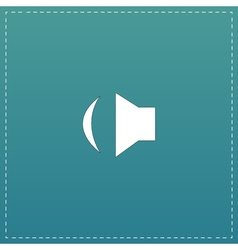 Sound flat icon vector