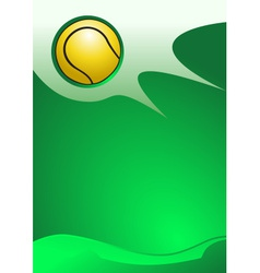 Tennis background vector