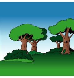 Tree alley vector