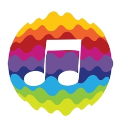 Music rainbow color icon for mobile applications vector
