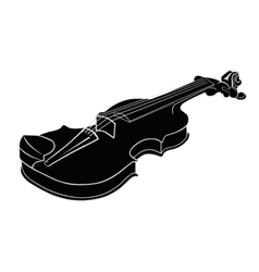 Black - white musical instrument violin vector