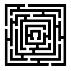 rectangle maze izolated on white2 vector image