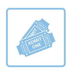 Cinema tickets icon vector