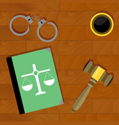 justice is top view vector image