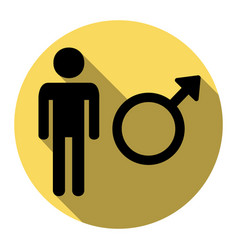 Male sign   flat black icon vector