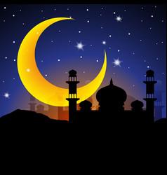 Ramadan kareem arabian night vector